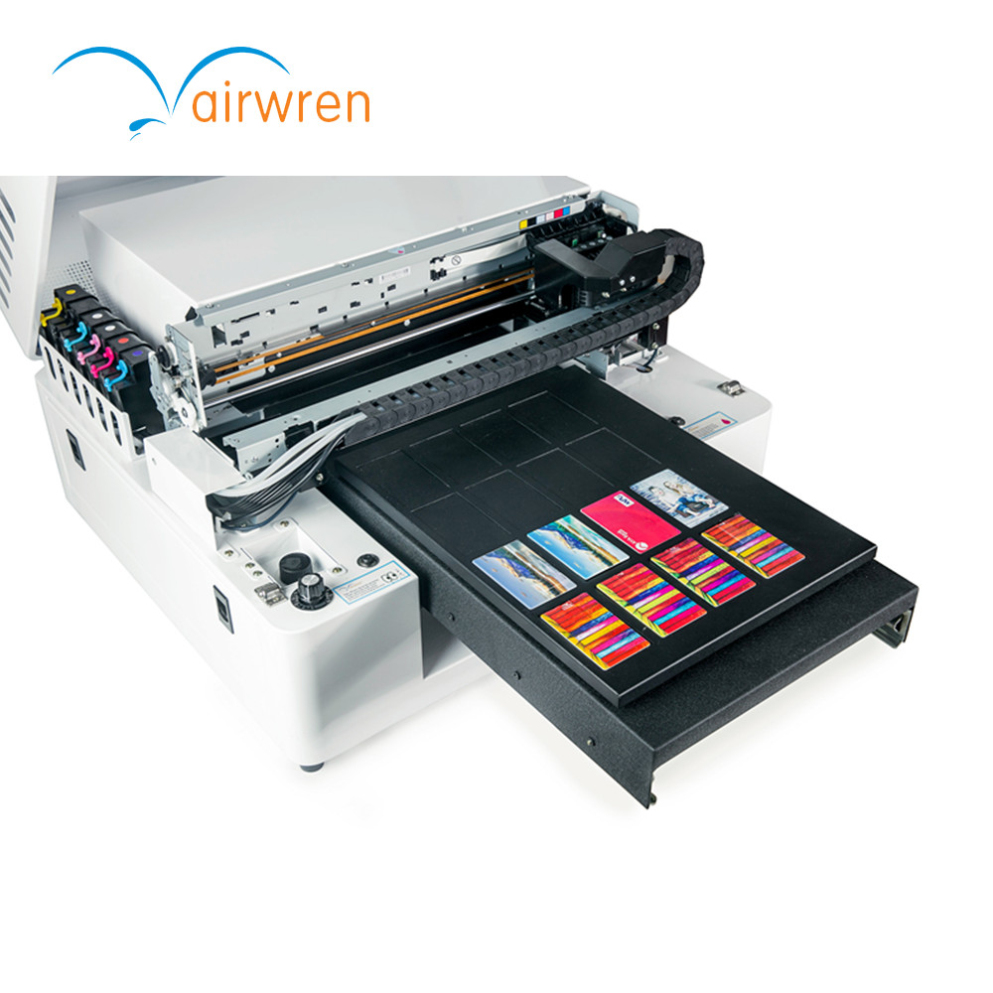 Hot selling uv flatbed printer a3 6 colors business card printing ...