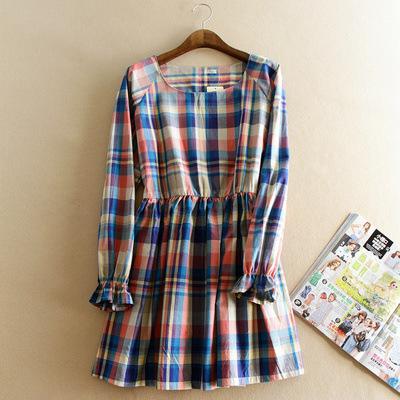 A la venta vestido de embarazada otoño primavera ropa de maternidad de manga larga de lino orgánico