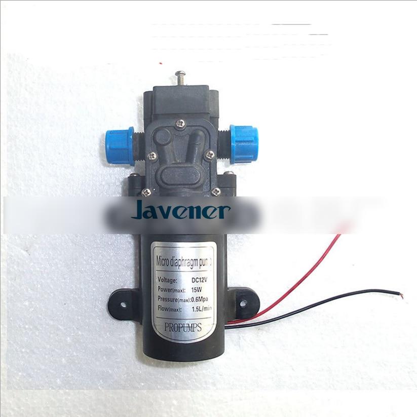 12V DC Electric Mini Diaphragm pump self-priming booster pumnp low traffic  for garden cooling car washer 15W 90L/H  T4