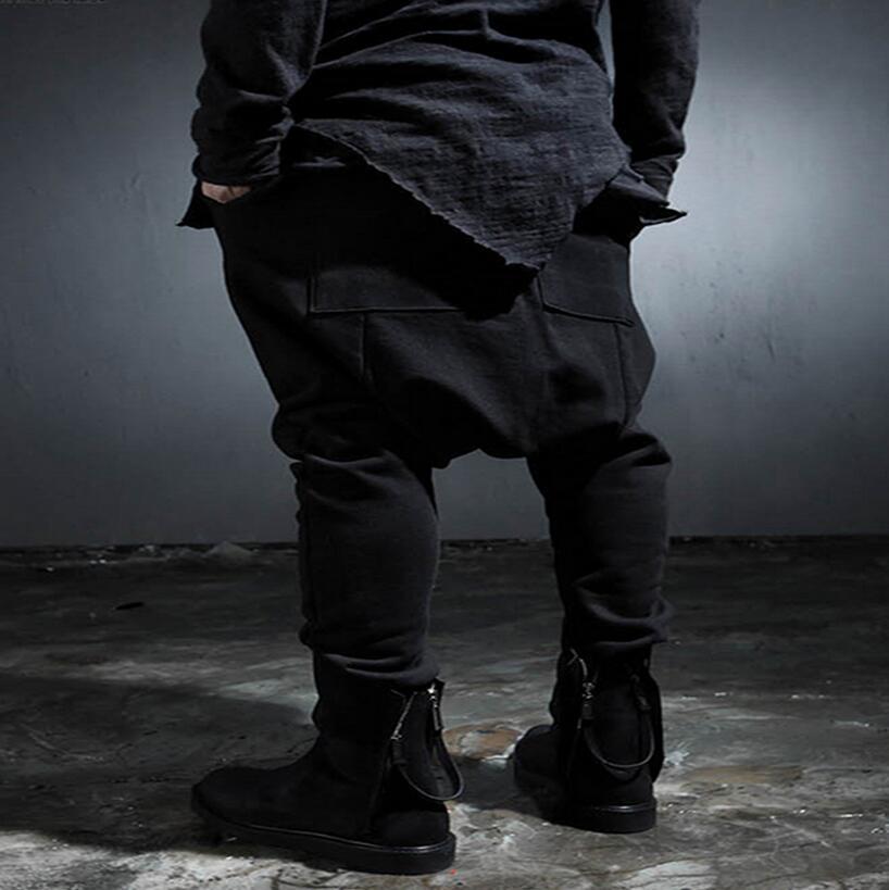 États L'europe 42 Pieds Noir Pantalon Printemps Casual Nouveau Et Taille Bas unis Les Petits Trousers27 De Grande Entrejambe Hommes Harem Automne ExRwq4AWx