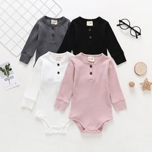 e592307b44c Cotton newborn baby clothes long sleeve autumn and winter baby romper  infant clothing toddler baby boy girl comfort onesies