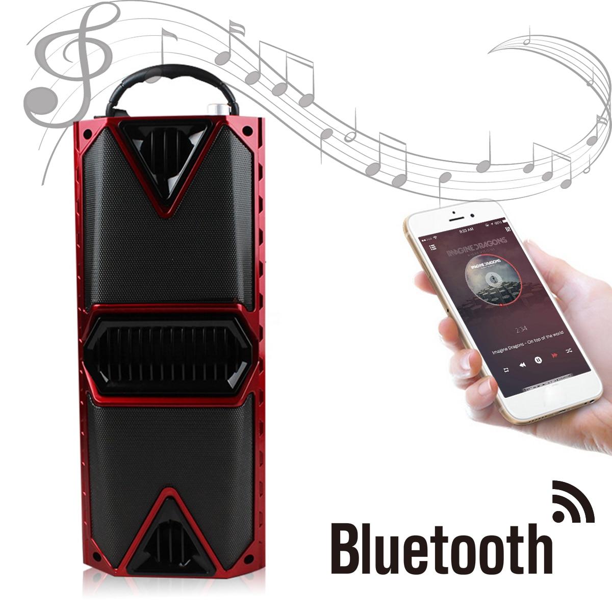 Music Player Portable Wireless LED Display Bluetooth Speaker Stereo FM Radio Karaoke Handsfree Hi-Fi USB AUX TF Mic Sing цена 2017