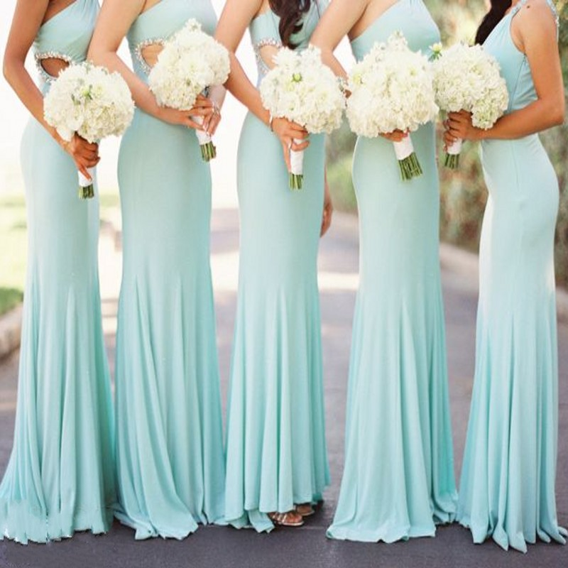 peach and mint bridesmaid dresses