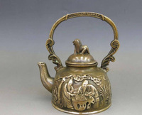 Китайский медный чайник Carven Dog 2 chess pattern teakettle