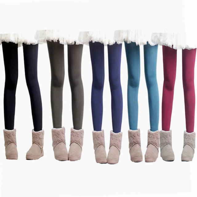 2017 The Explosion Models Increase Korean Pearl Velvet Test Code Thickened Double Color Brushed Warm Pants Free Shipping