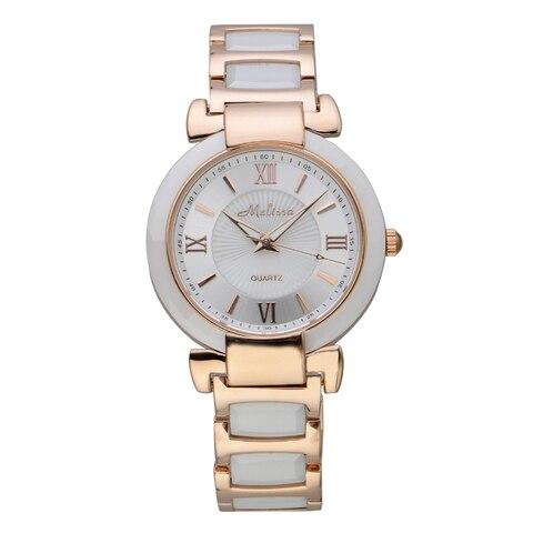 Pulseira de Cerâmica Melissa Feminino Elegante Relógios Quartzo Roman Negócio Relógio Pulso Moda Vestido Montre Femme