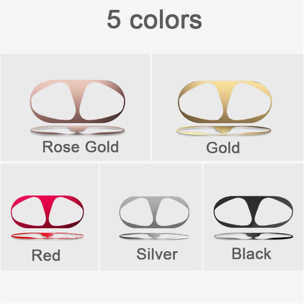 1 zestaw Ultra peruka damska z cienką skórą ochronna pokrywa metalowa naklejka foliowa żelaza wióry osłona przeciwpyłowa dla AirPods Airpod