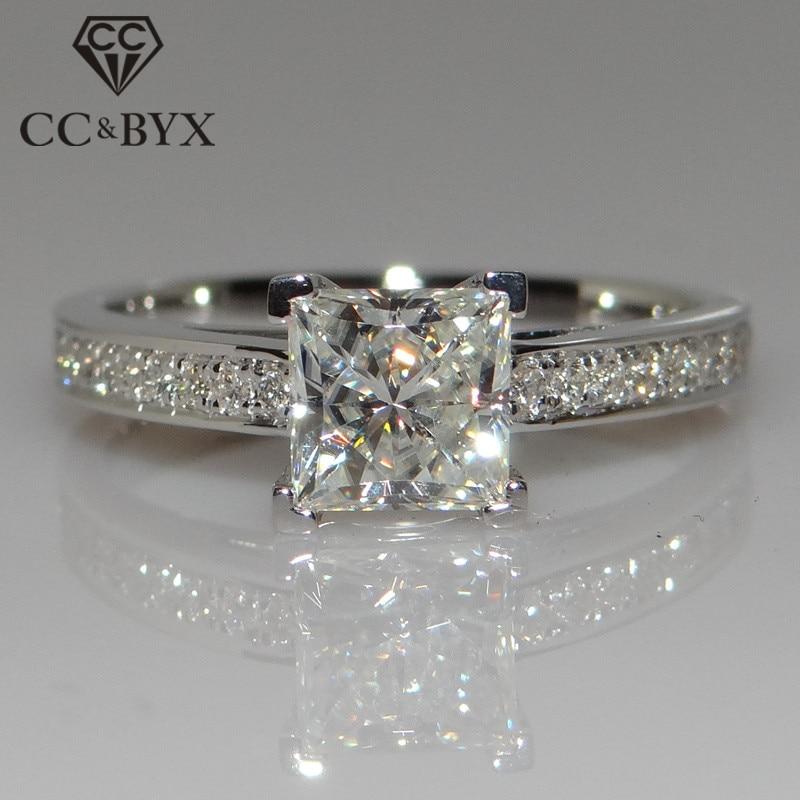 100% Wahr Cc Schmuck Mode Sterling 925 Silber Ringe Für Frauen Schmuck Einfache Design Platz Braut Hochzeit Engagement Ring Bijoux Cc631