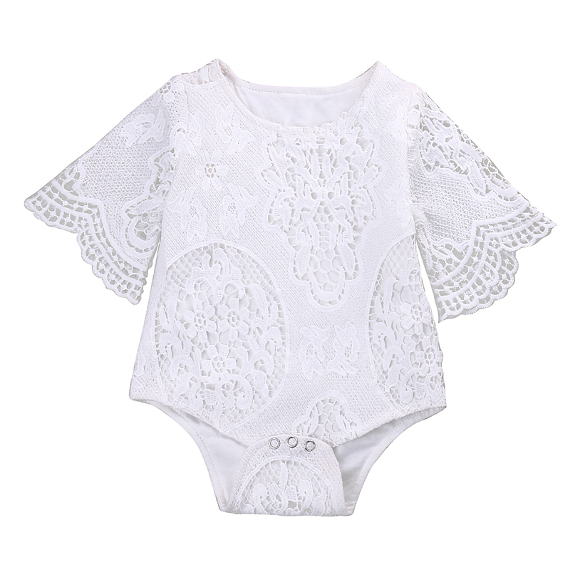 New Fashion Newborn Baby Girl Clothes Long Sleeve Lace Floral Romper Jumpsuit Outfits Sunsuit Clothes
