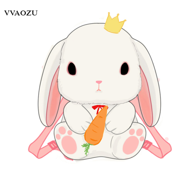 japanese cartoon rabbit bunny lolita backpacks kids toy 3d Suitcase Clip Art person carrying luggage clipart