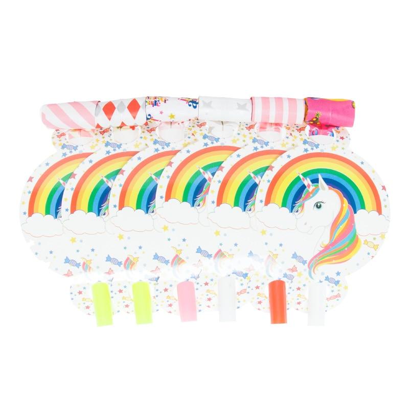 12pcs/lot Blowout Unicorn Horse Kids Birthday Party Supply