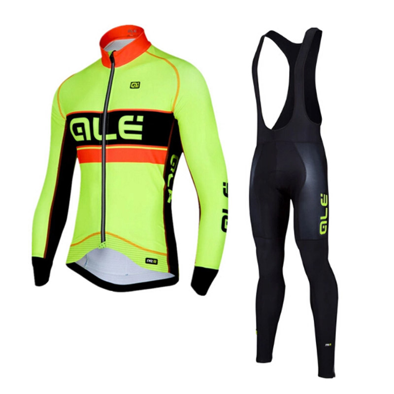 2017 ALE Cycling Jersey Set Long Sleeves Mountain Bike Clothes MTB Maillot Ropa Ciclismo Quick Dry Racing Bicycle Clothing G0404