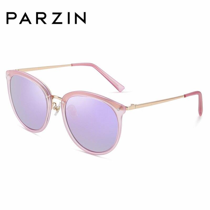 PARZIN Men Women Ultra Light New Colorful Vintage Steampunk Sunglasses Plastic Polarized Elegant Luxury Eyewear 9868