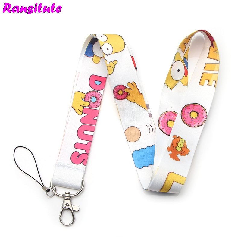 10pcs/set This Is A Funny And Cute Neckband Lanyard Key ID Card Gym Mobile Phone With USB Badge Clip DIY Lanyard Lasso R209x10