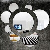 Ücretsiz Kargo Ayna Sticker Ayçiçeği Modern Tasarım Ev Dekor 3D Akrilik Duvar Duvar Sanat Dekorasyon Yatak Odası Oturma Odası için