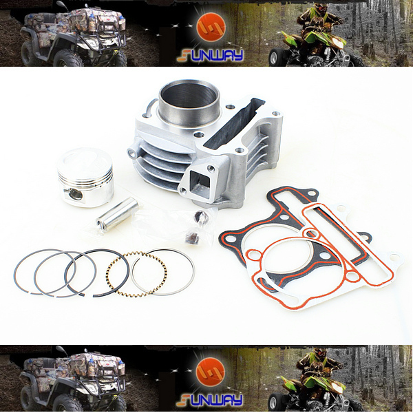 2014 Motorcycle 44mm Cylinder Kit for GY6 80CC Engine Free Shipping!