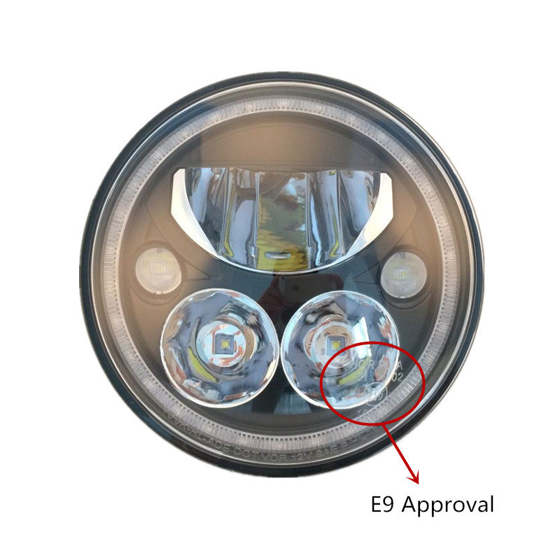Pair X Lighting 7 Vortex LED Headlamp Headlight Kit with Halo Ring for 07-17 Jeep Wrangler JK & JK Unlimited