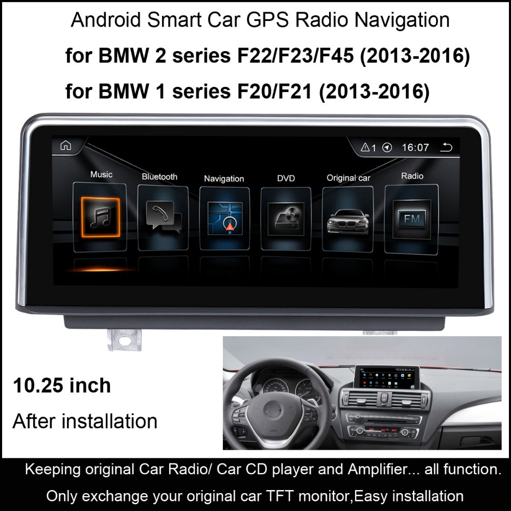 """imágenes para 10.25 """"Android 4.4 Radio de Coche Estéreo para BMW Serie 1 F20/F21 (2013-2016) 2 serie F22/F23/F45 (2013-2016) Navegación GPS WiFi"""