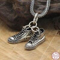 2019 925 sterling silver sport shoe pendant necklace personality trendy original men necklaces pendants charm jewelry fashion