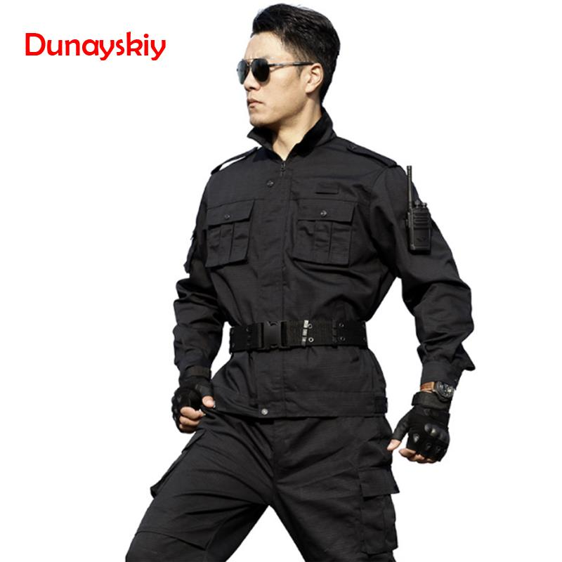 Men Black Military Uniform Tactical Combat Uniforme Militar Multicam CS Clothing Combat Shirt Hunting Clothes Men