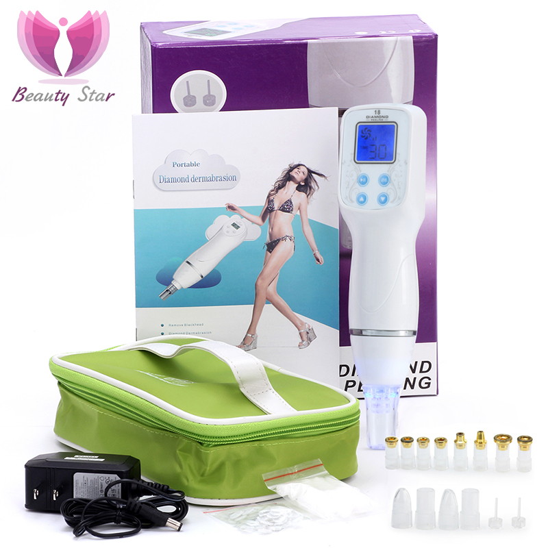 Beauty Star Blackhead Removal Machine Microdermabrasion Vacuum Blackhead Pore Cleaner Dermabrasion Diamond Peeling Massager