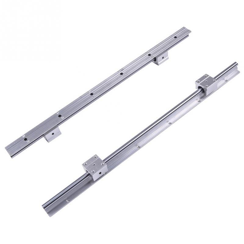 2 Sets SBR12-600mm 12MM Linear Bearing Rails Shaft Rod+2 SBR12UU Block