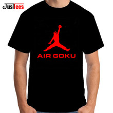 Air Goku T Shirts Men Anime Dragon Ball Goku Super Saiyan 3 T-Shirt Short Sleeve Casual Top Cotton Goku black Tshirts Funny Tees