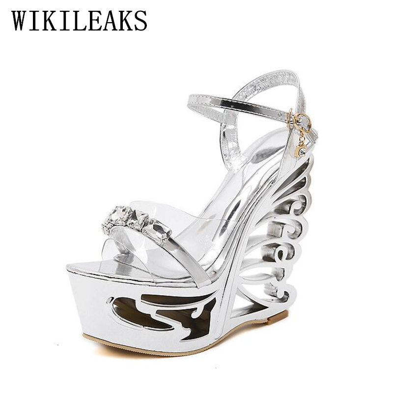 platform crystal sandals summer shoes woman zapatos mujer gladiator sandals women jelly shoes 15 cm high heels sandals women 2017 summer new rivet wedges sandals creepers women high heel platform casual shoes silver women gladiator sandals zapatos mujer