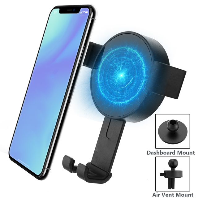 LEORY Qi Wireless Fast Car Charger 2 Mounts Holder Charger For iPhone for Samsung