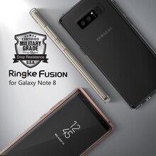 Ringke Fusion Примечание 8 Дело Сертифицированный Военное Дело Класс защита Кристалл PC Back + ТПУ бампер Гибридный Чехлы для Samsung Galaxy Примечание 8