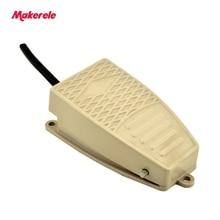 Алюминиевый сплав SPDT Электрический Ножной Переключатель педали с кнопочным алюминиевым промышленным высоким качеством 5A 250VAC MKEKW-5A-B