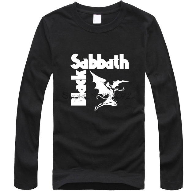97d0d963 New Fashion Heavy Metal T Shirts Mens Black Sabbath Paranoid Tee Shirts  Cotton Top Long Sleeve Casual TShirt Camiseta