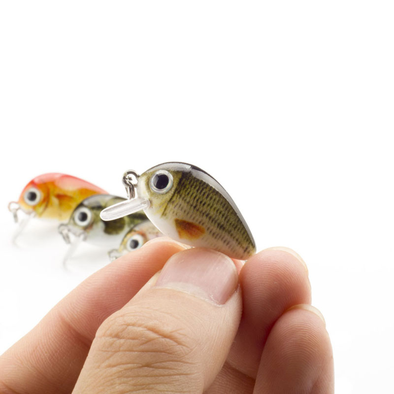 Mini Crank Bait Fishing Lures For Bass, Trout, Perch, and Pike 2