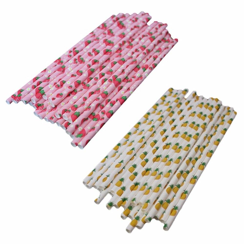 25 шт./лот бумаги соломинки одноразовые питьевой соломинки для детей день рождения Свадебные украшения пипетки цветные прекрасный узор