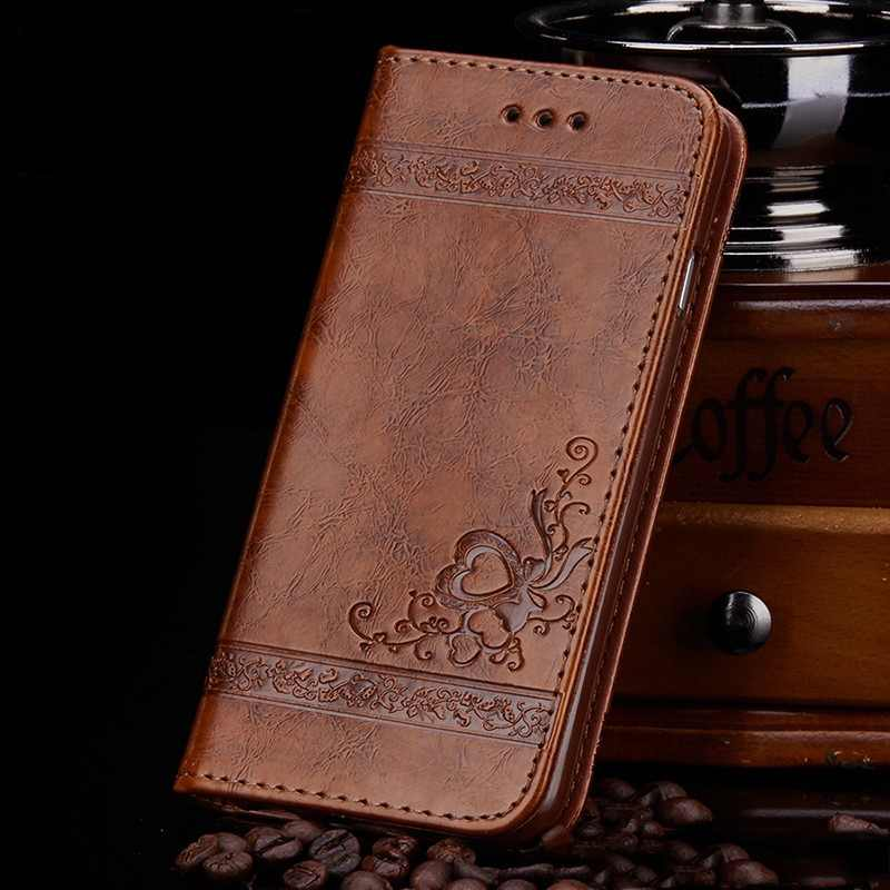Tikitaka Leather Flip Case For iphoneX XS 7 8Plus 6 6S With Card Slots Print Soft Cover For Iphone XS MAX XR 5 5s SE Wallet Case