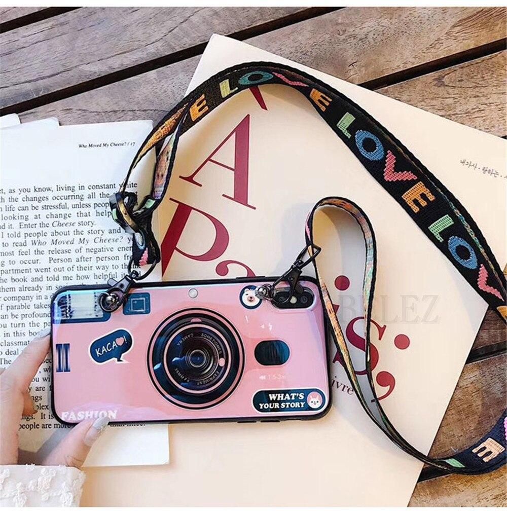 3D Camera Case For Samsung Galaxy S10 S10E S8 S9 S7 Edge M20 M10 J4 J6 Plus A9 A8 A7 2018 Note 8 9 A30 A50 A70 TPU Holder Cover