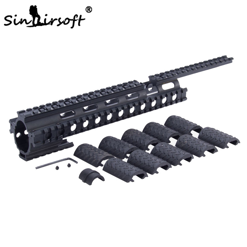 SINAIRSOFT MNT-T228 Tactical Quad Rail System For Ruger 10/22 Commando Handguard With Interlocking System SA4050
