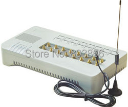 GSM VOIP gateway with 16 sim cards GOIP 16  IMEI change support sim bank ( with short antennas)