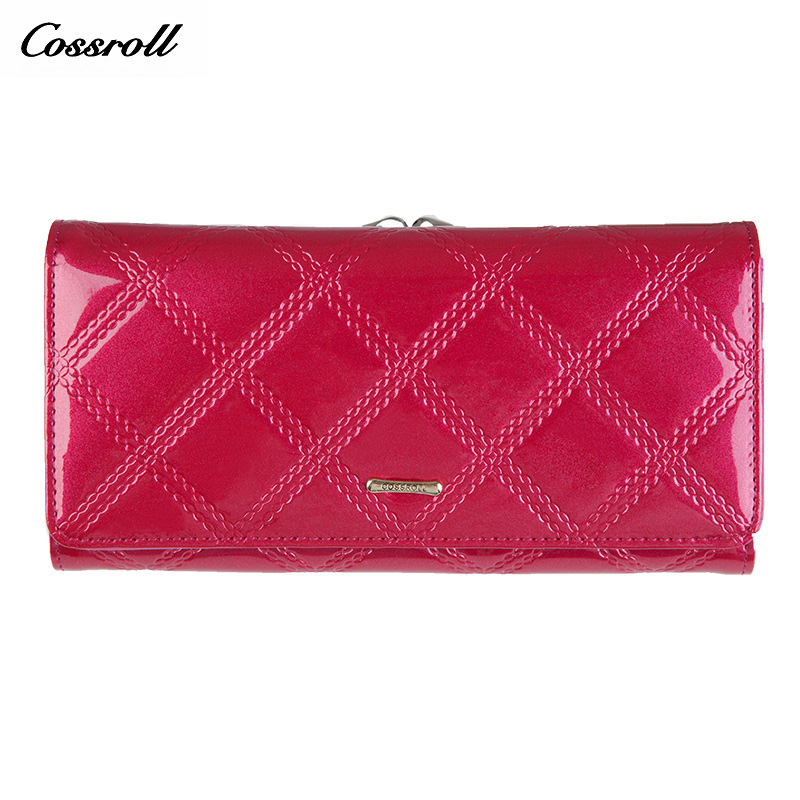 Brand Design High Quality Women Genuine Leather Wallet Female Fashion Dollar Price Serpentine Long Women Wallets