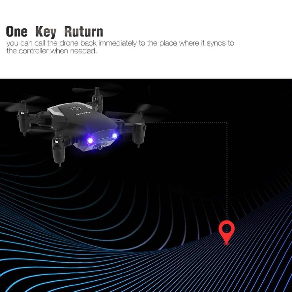 Радиоуправляемый квадрокоптер Дрон комплект 2,4 ГГц мини карманный складной Дрон самолет удержание высоты 1 ключ возврат Безголовый режим 3D флип светодиодный контроль