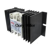 Temprature Control Solid State Relay SSR 60A 3 32V DC 90 480V AC Heat Sink