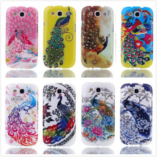 Bling 3D Diamond Phone Case for Samsung Galaxy S3 Neo I9300 Fashion Colorful Phoenix Flower Silicone Soft TPU Cases Back Cover