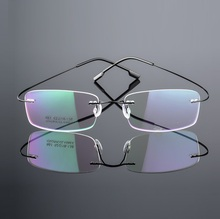 Super light pure titanium plate Men's business eyes box 1802 glass frame wholesale   Free shipping