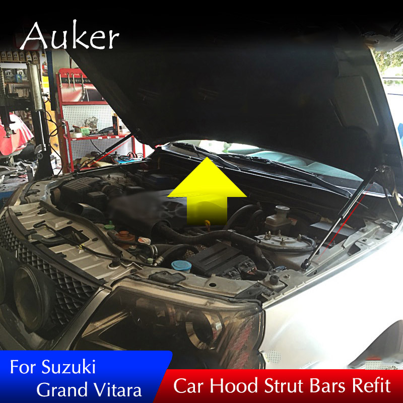 For Suzuki Grand Vitara Car Front Hood Engine Cover Supporting Hydraulic rod Lift Strut Spring Shock Bars Bracket-in Chromium Styling from Automobiles & Motorcycles