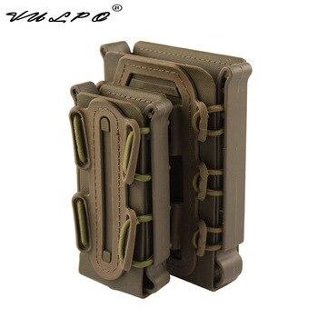VULPO Askeri 5.56mm ve 7.62mm Dergisi Kılıfı Taktik Tabanca 9mm Molle Dergisi Kılıfı Avcılık Mag kılıfı