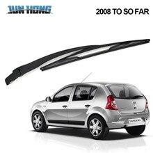 JunHong, Задняя щетка стеклоочистителя и рычаг для DACIA Sandero, 2008 до сих пор, ветровое стекло, резиновые автомобильные аксессуары, заднее стекло