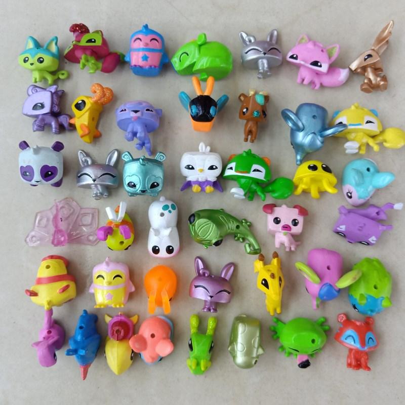 100pcs/lot Animal Jam Figures Toys Dolls Collection Little ...