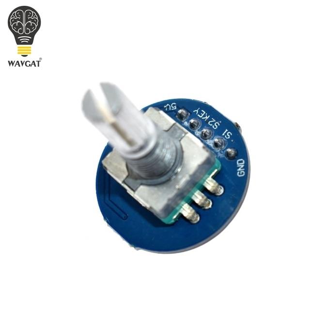 WAVGAT Rotary Encoder Module for Arduino Brick Sensor Development Round Audio Rotating Potentiometer Knob Cap EC11 3