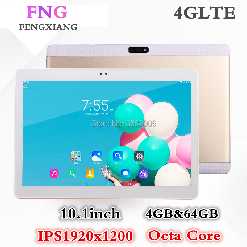 10,1 Zoll Tablet pc 3G 4G Anruf Android 7.0 Octa-core Tablet pcs 64 GB ROM 4 GB RAM WiFi FM Bluetooth intelligente Tabletten 7 8 9