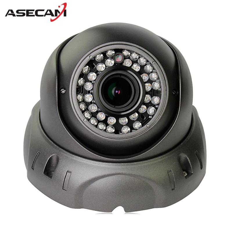 ASECAMZoom Varifocal 2.8~12mm Lens HD IP Camera 1080P H.265 POE Onvif p2p Indoor Waterproof Dome 42led Security Gray White ipcam hd tvi 1080p 1 2 8 metal dome camera 2mp varifocal 2 8 12mm lens osd menu